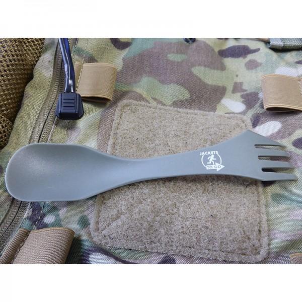 JTG ultraleichter Outdoorlöffel mit Gabel und Messerfunktion