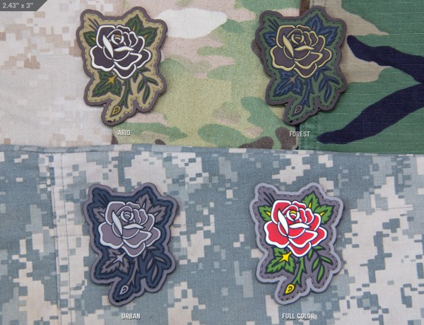 Mil Spec Monkey Patch Rose Tattoo PVC